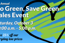 ReStore Go Green Save Green Sales Event 2015