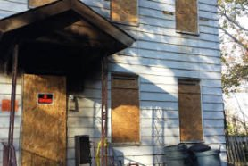Monmouth Avenue in Dover boarded up