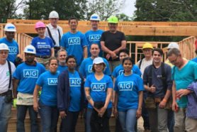 AIG volunteers at 10 Willow Street