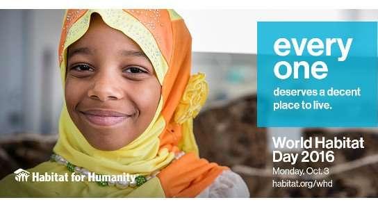 World Habitat Day 2016