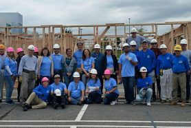 Bayer employees frame first story for home on Randall Avenue