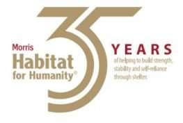 Habitat for Humanity 35 year anniversary logo