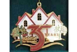 Christmas ornament celebrating 35 years