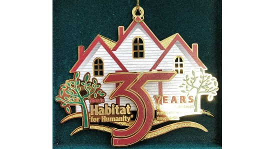 Christmas ornament celebrating 35 years