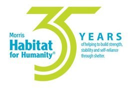 Morris Habitat for Humanity 35 year logo
