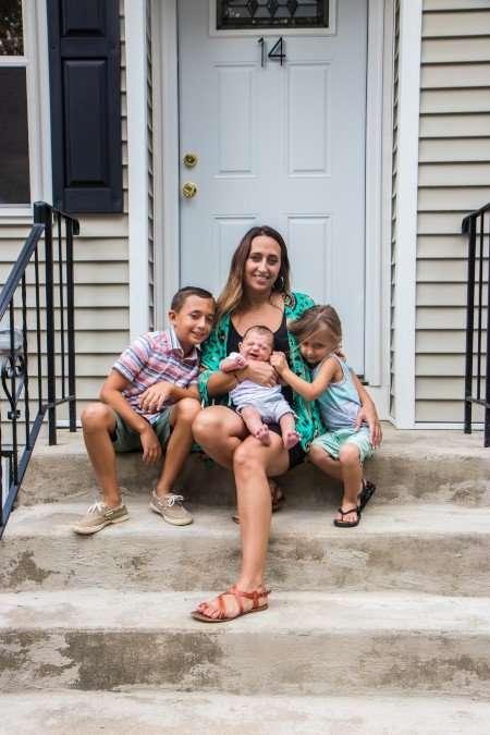 Alicia Salazar and sons